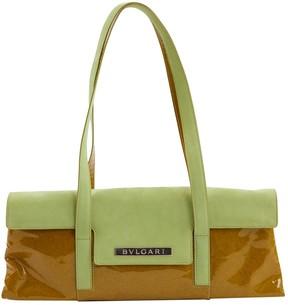 Bulgari Green Suede Handbag