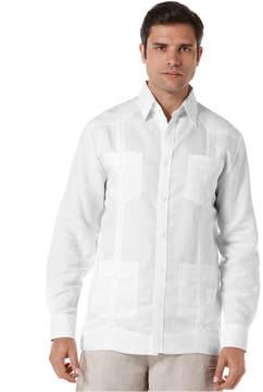 Cubavera Long Sleeve Non Embroidered Guayabera Shirt