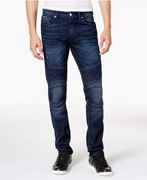 GUESS Men's Slim-Fit Tapered Moto Stretch Jeans