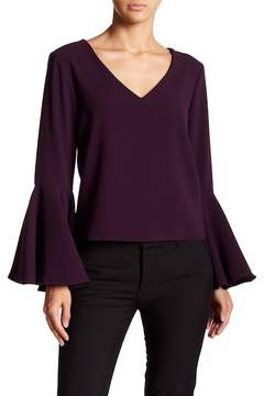 Fifteen-Twenty Fifteen Twenty Crop Flare-Sleeve Top