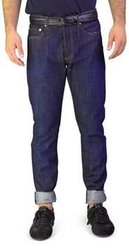 Christian Dior Men's Bleu Marine Slim Fit Denim Jeans Pants Dark Blue.