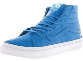 Vans Sk8-Hi Slim Neon Leather Blue / True White High-Top Skateboarding Shoe - 9.5M 8M