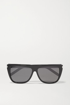 Saint Laurent - D-frame Acetate Sunglasses - Black