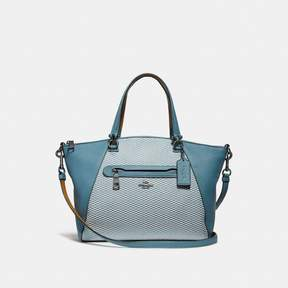 COACH COACH PRAIRIE SATCHEL - CHAMBRAY/DARK GUNMETAL