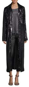 RtA Karina Sequin Trench Jacket