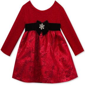 Rare Editions Textured-Knit Brocade Party Dress, Little Girls (4-6X)