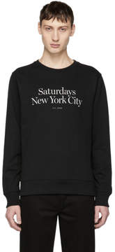 Saturdays NYC Black Bowery Miller Standard Sweatshirt