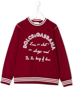 Dolce & Gabbana king of love sweatshirt