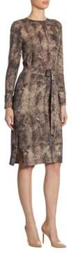 Akris Wool Shearling-Print Dress