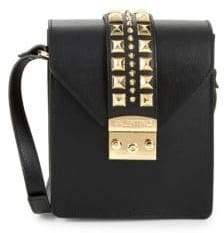 Mario Valentino Bridgette Rockstud Leather Crossbody Bag