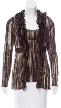 Alberto Makali Ruffled Cardigan Set w/ Tags