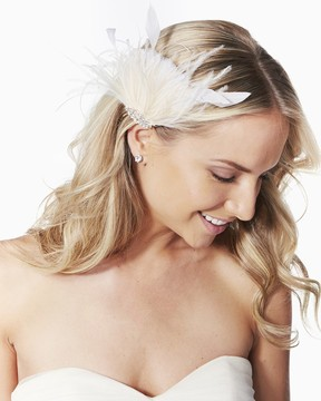Charming charlie Sparkling Feather Hair Clip