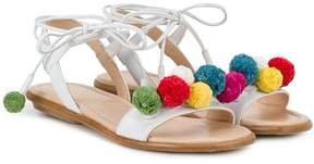 Aquazzura Mini Mini Pompom sandals
