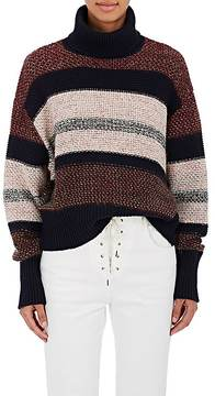 Chloé Women's Striped Wool-Blend Turtleneck Sweater