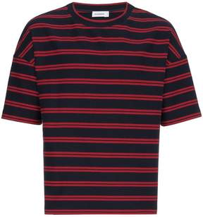Jil Sander Navy and Red Stripe T Shirt