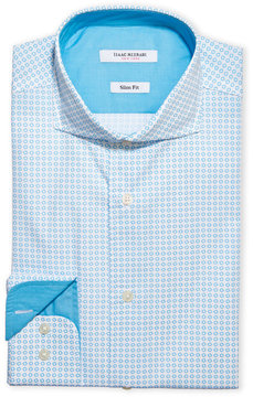 Isaac Mizrahi Slim Fit Printed Dress Shirt