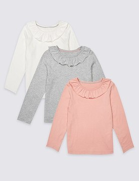 Marks and Spencer 3 Pack Pure Cotton Tops (3 Months - 5 Years)