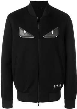 Fendi Bag Bugs-appliqué zipped jacket