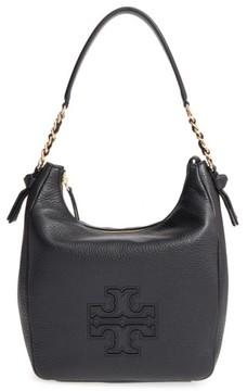Tory Burch 'Harper' Leather Zip Hobo - Black