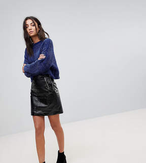 Noisy May Tall Vinyl Mini Skirt