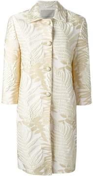Ermanno Scervino jacquard leaf coat