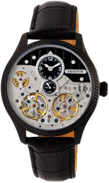 Heritor Winthrop Automatic Black Dial Men's Watch