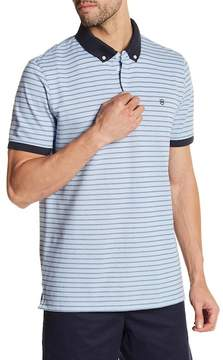 Victorinox Short Sleeve Stripe Tailored Fit Polo