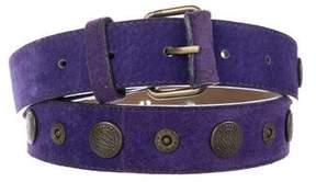 DKNY Suede Embellished Belt