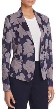 Basler Metallic Floral Blazer
