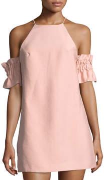 C/Meo Double Take Cold-Shoulder Mini Dress