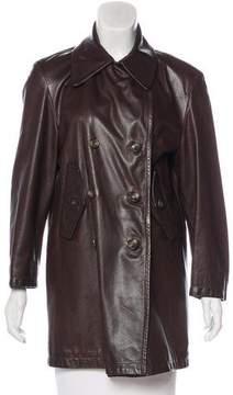Henri Bendel Vintage Leather Coat
