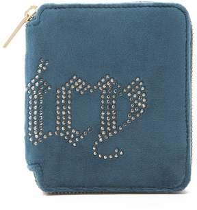 Juicy Couture Ultra Luxe Velour Bel Air Bijoux Small Zip Wallet