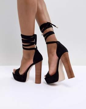 Tamarind Tie Leg Platform Sandals
