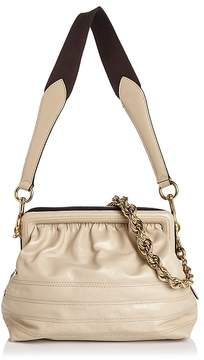 Marc Jacobs Swinger Leather Shoulder Bag - BONE/GOLD - STYLE
