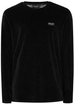 Nicce Black Velour Sweater