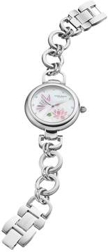Akribos XXIV Women's Ornate Crystal Floral Butterfly Watch