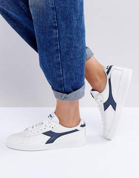 Diadora Game Low Sneakers In White And Blue