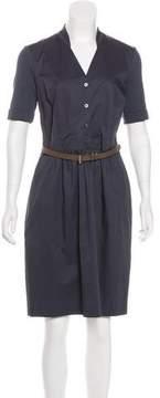Peserico Belted Knee-Length Dress