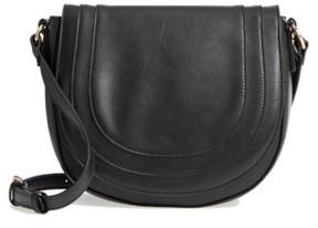 Sole Society Piri Faux Leather Saddle Bag - Black