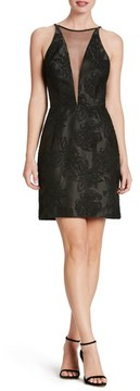 Dress the Population Women's Kennedy Illusion Sheath Dress