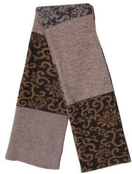Barneys New York Barney's New York Printed Knit Scarf