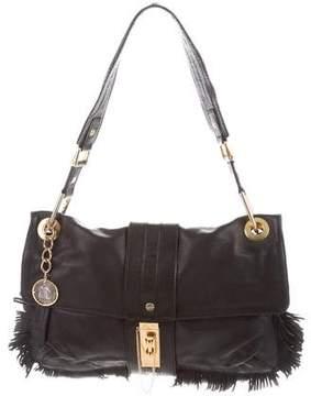 Lanvin Fringe-Trimmed Leather Shoulder Bag