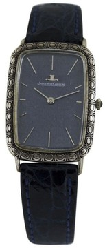 Jaeger-LeCoultre Jaeger leCoultre Classic Sterling Silver & Leather 39mm Mens Vintage Watch