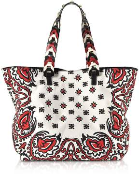 RED Valentino Bandana Printed Canvas Tote Bag