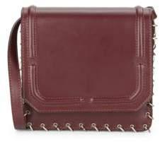 Lypton Chain-Detail Leather Crossbody Bag