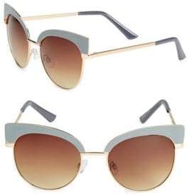 Fantas-Eyes Round 51MM Clubmaster Sunglasses