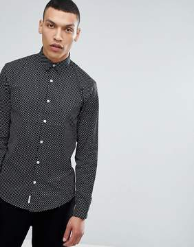 Lindbergh All Over Print Shirt in Black