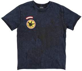 Diesel Cotton Jersey T-Shirt With Patches