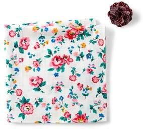 Original Penguin Edberg Floral Pocket Square & Lapel Pin Set