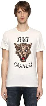 Just Cavalli Printed Cotton Jersey Shirt